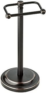 Delta Porter Telescoping Pivoting Free-Standing Toilet Paper Holder in Oil Rubbed Bronze