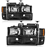 OEDRO Headlamps Replacement for Chevy C/K Series 1500 I 2500 I 3500 I Chevy Tahoe I Chevy ...