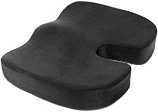 NOVIMED Coccyx Medical Orthopedic Memory Foam Seat Cushion With ANTI-SLIP Bottom For Sciatica,Low Back Pain,Herniated Dis...