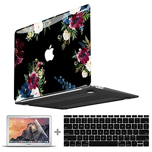 MacBook Pro 13 Inch Case 2020 2019 2018 2017 2016 Release A2251 A2289 A2159 A1989 A1708 A1706 A2338 M1 IMD Plastic Hard Shell Case & Keyboard Cover & Screen Protector for Apple MacBook Pro 13.3 inch