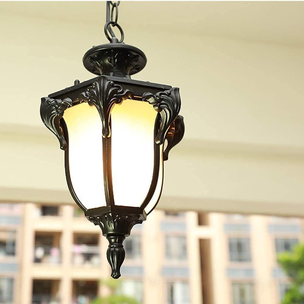 Albuquerque Mall Outdoor Waterproof Pendant Store Light with E Glass Lampshade Frosted