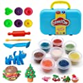 buzdao Air Dry Clay DIY Modeling Clay for Kids 8 Colors Art Supplies Ultra Light Plasticine Clay Soft & Stretchy with Tools Stamps, Sculpting Clay Tools,Easy Storage Box for Kids Creative Art Crafts
