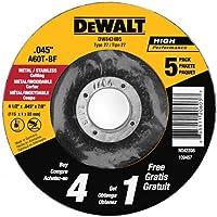 5 Pack Dewalt All Purpose 4-1/2