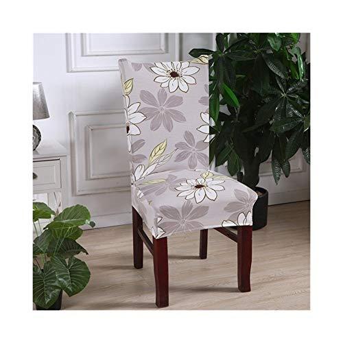 Suave Spandex del estiramiento elástico cubierta de la silla Impreso Patrón Cocina Comedor Cubre Sillas for el partido banquete de bodas Duradera ( Color : Color 11 , Specification : Universal sizes )
