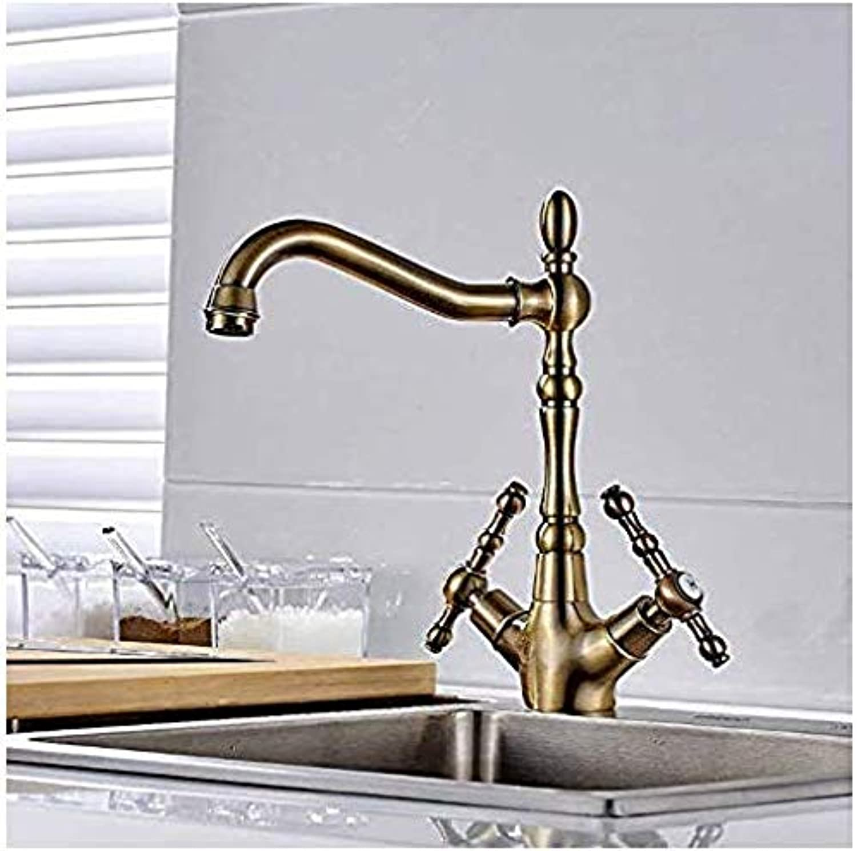 Retro Wasserhahn Klicken Sie, um die erweiterte Ansicht zu ffnen Küchenarmatur Küchenarmatur Kupfer Bronze Für Kalt- Und Warmwasserhahn Waschbecken Wasserhahn Gemüse Waschbecken