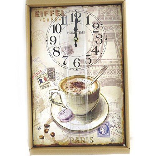 Les Trésors De Lily N0847 - Die wanduhren 'Pause Café' beige braun.