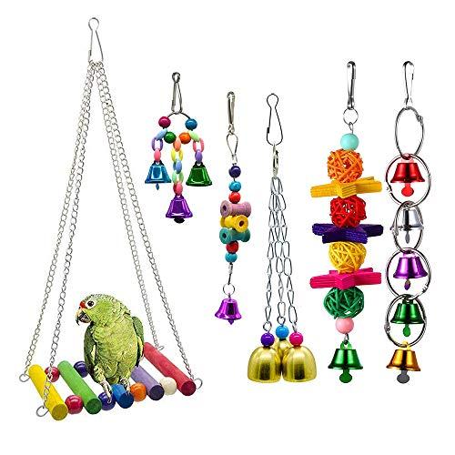 Amasawa 6 Piezas Unidades Juguetes para Pájaros Colorful Co