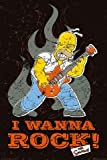 1art1 42368 Poster Die Simpsons I Wanna Rock  91 x