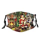 MayBlosom Staubschutzmaske für Erwachsene, Weihnachtsmann und Hund, wiederverwendbar, mit...