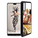 Getsingular Fundas de móvil Huawei P20 Personalizadas con Fotos y Texto | Fundas Negras con los Laterales Flexibles para el Huawei P20