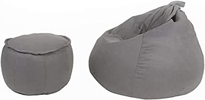 TLTLLRSF Sofa Sack - Ultra Soft Bean Bag Chair, Stack Chair Memory Foam Adult, Child Bean Bag Chair with Footstool,Multi-Color Optional (Color : C)