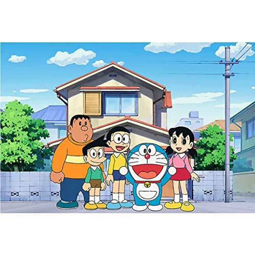 A/N Rompecabezas De Madera para Adultos 300/500/1000 Piezas Doraemon Anime Puzzle Games, Decoración del Hogar, Regalos para Amigos(Size:300pcs)