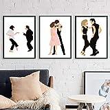 zuomo Dirty Dancing Wall Art Prints Classic Pulp Fiction Poster Abstracto Minimalista Pintura de la Lona Danza Imágenes Decoración del hogar 42x60cm Sin Marco