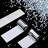 Yoande Self-Adhesive Mini Square Glass and Decoration Crushed Glass White, Decorative Accessory Mirrors Mosaic Tiles for DIY Craft