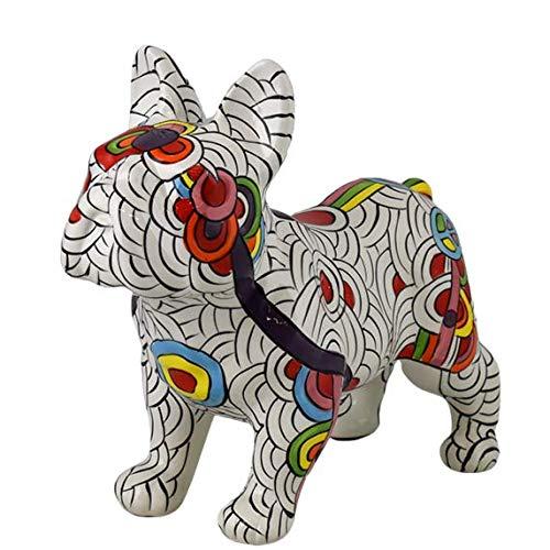 Pomme Pidou | Spardose Keramik | Französische Bulldogge Jack | Large | Keramik Spardose mit Münzschlitz und sehr schönes Dekorationsstück | inkl. GRATIS Geschenkbox