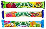 German Mamba 3 Flavor Chewy Candy Tropical Fruit, Fruit, Sour Fruit Chews 2.80oz From Germany