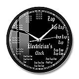 JIAJBG Reloj Decorativo Reloj Electricista Trabajador Eléctrico Profesión Moderna Pared Reloj Rayo Pared Decoración Del Hogar Regalo Decoraciones interiores