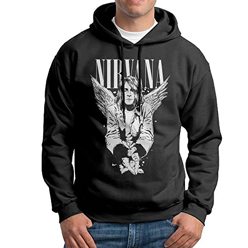 Matta Men's Kurt Cobain Casual Hoodies Sweatshirt M Black