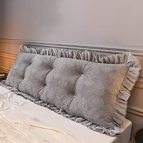 wdd Doppelbett Rückenkissen, Schlafzimmer Bett Rückenlehne Kissen, Abnehmbares Kissen Kopfteil Rückenlehne Rest Lesekissen mit Abnehmbarer Abdeckung