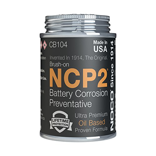 NOCO NCP2 CB104 4 Oz Oil-Based Brush-On Battery Corrosion Preventative, Corrosion Inhibitor, And Battery Terminal Grease