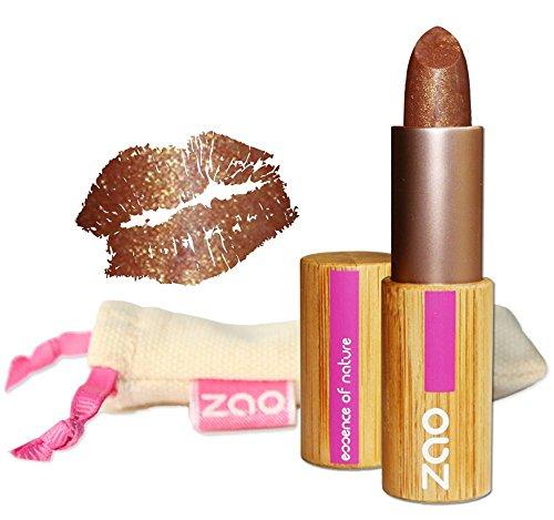 ZAO Pearly Lipstick 405 gold-braun, schimmernder Lippenstift, in nachfüllbarer Bambus-Dose (bio,...