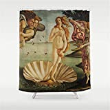 Presock Badewannenvorhang, Fabric Duschvorhang for Bathroom, The Birth of Venus Duschvorhang 72 x 72 inches