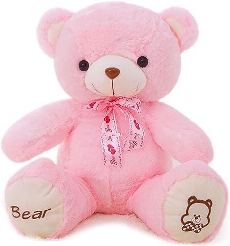 Plüschtier Puppe Perfekt für Heimtextilien Und Geburtstagsferiengeschenk 100cm   Riesen Teddyb Mit Plüsch Stofftiere (Farbe   Rosa)