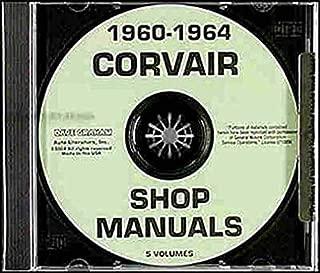 1960 1961 1962 1963 1964 CORVAIR FACTORY REPAIR SHOP & SERVICE MANUAL CD - Includes All Models Deluxe Monza 95 Corvan Greenbrier, Lakewood