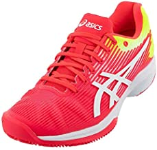 ASICS Women's Solution Speed FF Tennis Shoes, 9.5, Laser Pink/White