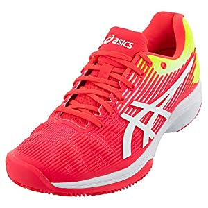 ASICS Women's Solution Speed FF Tennis Shoes, 8.5, Laser Pink/White