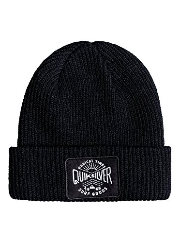 Quiksilver Performed Patch–Gorro para niño, Niño, Performed Patch, Anthracite/Solid, Talla única
