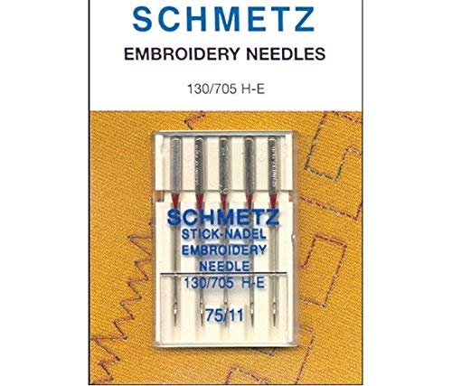 Review Of Schmetz Embroidery Machine Needles 75/11 Pack of 5