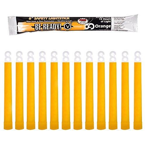 Windy City Novelties Safety Emergency Light Stick (Orange) (24 Pack)