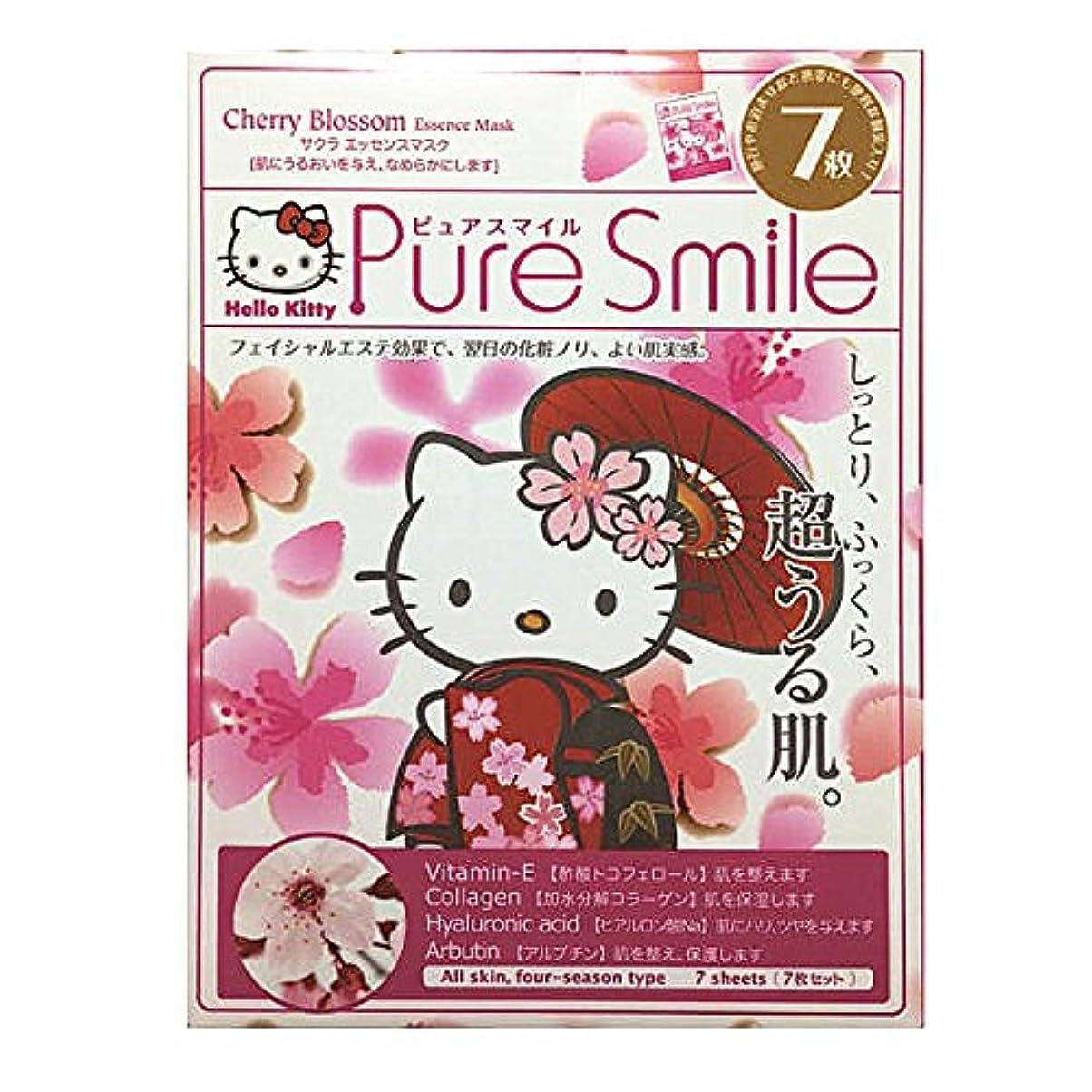 博物館不毛レビューPure Smile(ピュサスマイル)×Hello Kitty フェイスマスクBOXタイプ サクラエッセンス 7枚入
