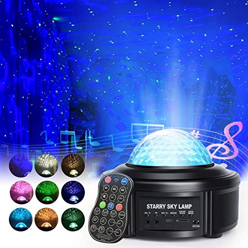 Galaxy Projector Light, Star Projector, Starry Night Light for Kids with Timer, Skylight for Bedroom Ceiling with Bluetooth Speaker, 360° Rotating LED Projection Light for Kids Bedroom/Game Rooms