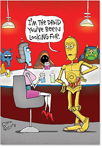 2213 The Droid Hilariousous Valentine's Day Paper Card with Envelope