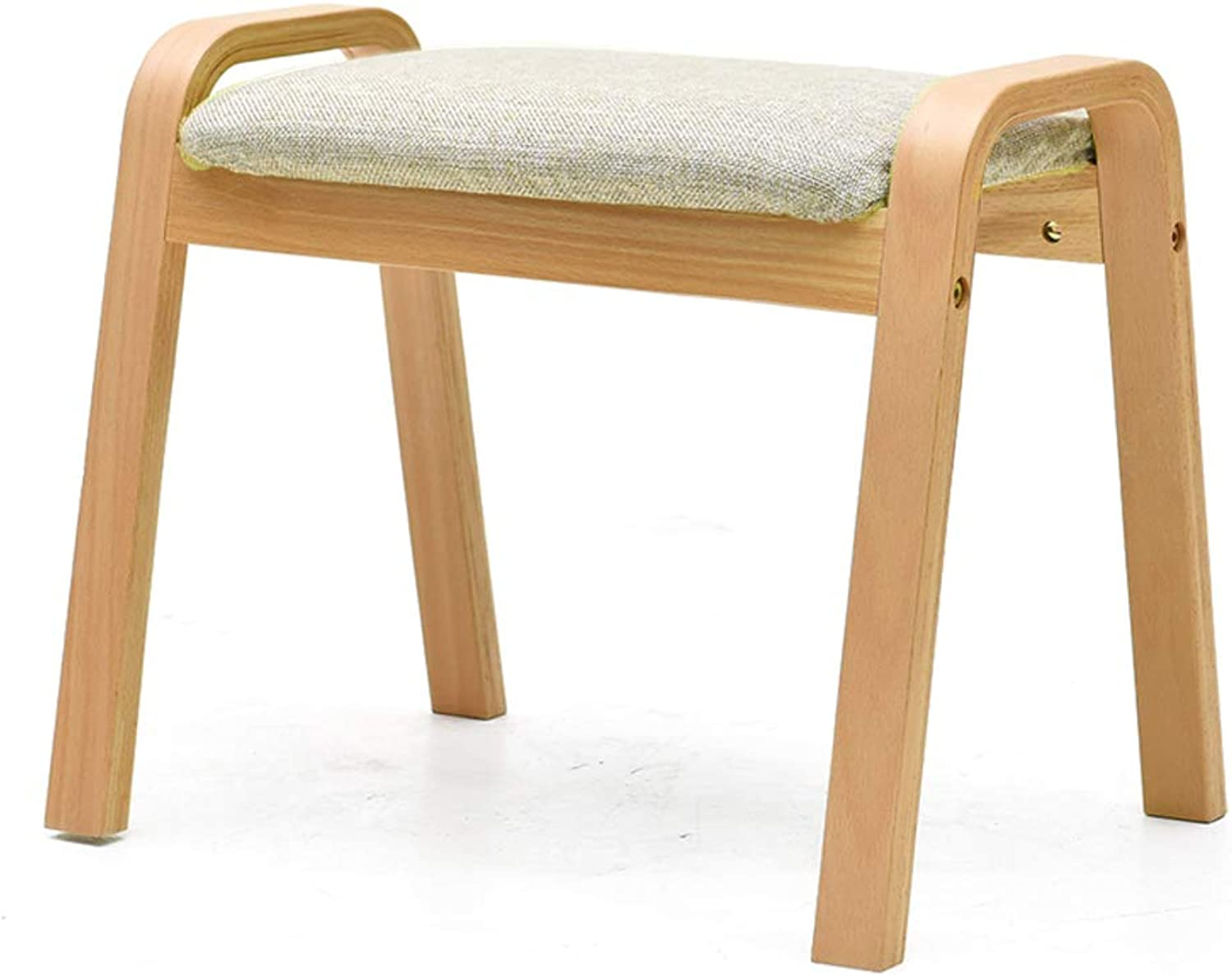 Wood Change shoes Stool,Wooden Footstool Easy Assembly for Foot Rest Thick Makeup Dressing Stool for Bedroom Living Room Kitchen-B 44x53x36cm(17x21x14in)