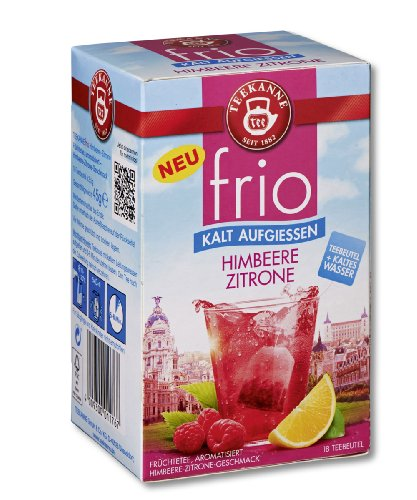 Teekanne frio Himbeere Zitrone 18 Beutel, 10er Pack (10 x 45 g)