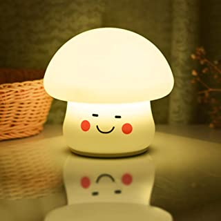 Mobestech 1pc Night Lamp Fashion Chic Stylish Creative Mushrooms Night Lamp Silicone Colorful Night Lamp Silicone Mushroom...