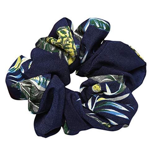 PinkLu Haarband DamenElastischer Haarseilring Krawatte Elastisches Pferdeschwanz-Haarband Pflanzenblatt Drucken Elegantes Mode Neuer HeißEr 6-Farbiges Haarband
