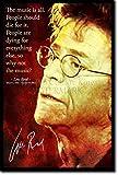 Lou Reed - Poster Photo (Avec Reproduction d'Autographe Signé) Oeuvre Imprimée Unique Cadeau 30x20 cm affiche