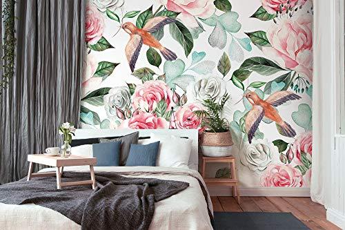 dalinda WalL-ART - Papel pintado para pared (tamaño XXL, 3,50 x 2,55 m), diseño floral