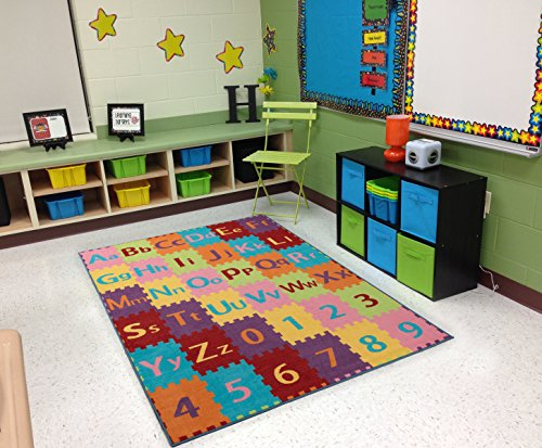 "Ottomanson Children's Garden Collection Nursery Kid's Play Area Rug, 5'0"" X6'6, Multicolor"