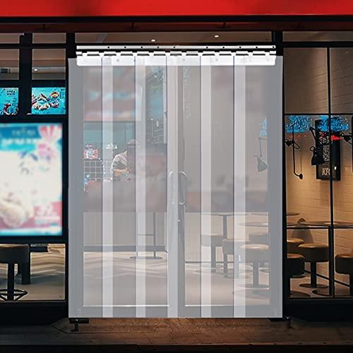 VEVOR 플라스틱 커튼 3FT 폭 X 7FT 높이 플라스틱 스트립 커튼 클리어 PVC 프리저 커튼 0.08IN 두께 플라스틱 도어 스트립 W   WALK-IN FREEZERS WAREHOUSE 및 CLEAN ROOM용 50% 이상 오버랩