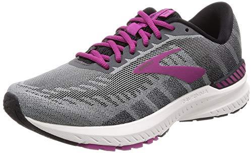 Brooks Womens Ravenna 10 Running Shoe - Ebony/Black/Wild Aster - B - 9.5