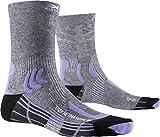 X-Socks Trek Retina Woman Calcetines De Senderismo Trekking Mujer Socks Calcetines, Mujer, Grey Multi Melange / Dust, 37/38