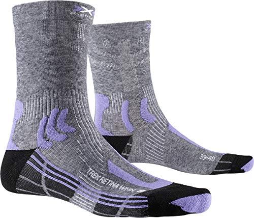 X-Socks Damen Socken Strümpfe TREK RETINA WOMEN trekkingsocken wandersocken damen, grey multi melange/dust, 39/40, XS-TSR8S20W