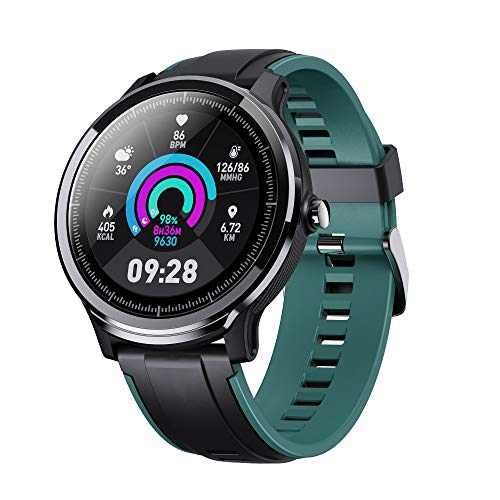 Adurei Smartwatch FHD 1.3'' Touchscreen Orologio Fitness Uomo Donna Impermeabile IP68 Cardiofrequenzimetro da Polso Contapassi Sportivo Activity Tracker Bluetooth 4.4 per Android iOS Huawei
