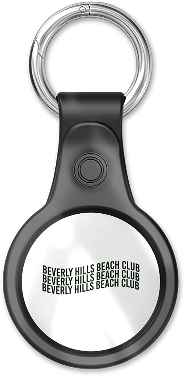 Cover Case Compatible With Airtag Tracker, Airtags Finder Beverly Location Hills Home Beach Item Club Key Chain Air Tags Accessories With Keychain Anti-loss Design