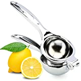 H&S Manual Lemon Squeezer - Heavy Duty - Juice Extractor Single Press Hand Lime Citrus Fruit Juicer